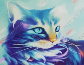 "Diamond painting ""Blue cat"""