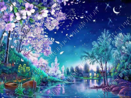 "Diamond painting ""Fantasy landscape"""