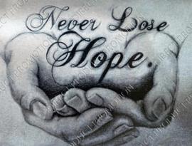 """Diamond painting """"Never lose hope"""""""
