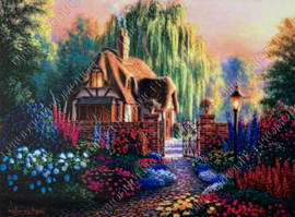 "Diamond painting ""House"""