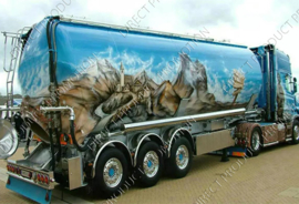 "Diamond painting ""Airbrushed American truck"""