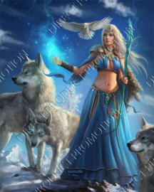 "Diamond painting ""Fairy queen of wolves"""