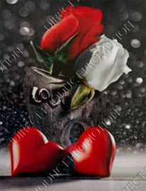 "Diamond painting ""Roses and hearts"""