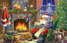 """Diamond painting """"Santa Claus by fireplace"""""""