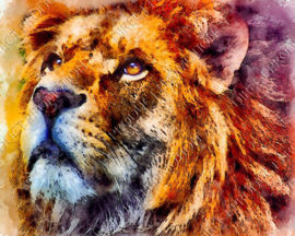 "Diamond painting ""Painting of a lion"""