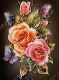 """Diamond painting """"Butterflies and roses """""""