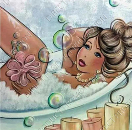 "Diamond painting ""Fat lady in the bath"""