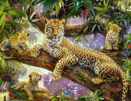 "Diamond painting ""Leopards"""