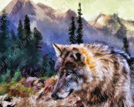 "Diamond painting ""Wolf"""