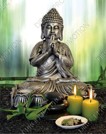 "Diamond painting ""Buddha with candles"""