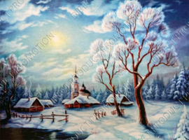 "Diamond painting ""Winter landscape"""