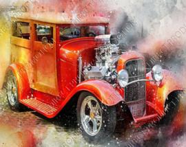 "Diamond painting ""Hot Rod car"""