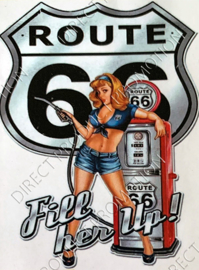 "Diamond painting ""Rout 66"""