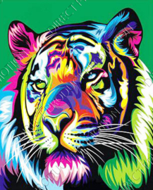 "Diamond painting ""Colorful tiger"""