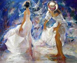 "Diamond painting ""Dancing ladies"""