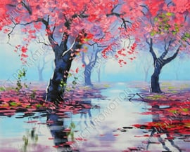 """Diamond painting """"Forest in water"""""""
