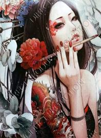 """Diamond painting """"Japanese girl"""""""