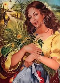 """Diamond painting """"Peasant girl"""""""