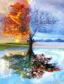 "Diamond painting ""4 Seasons tree"""