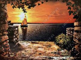 "Diamond painting ""Sea view with sailboat"""