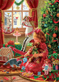 "Diamond painting ""Playing with Christmas gifts"""