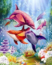 "Diamond painting ""Dolphins"""