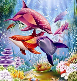 "Diamond painting ""Six dolphins"""