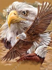 """Diamond painting """"Eagles"""""""