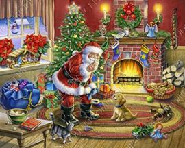 "Diamond painting ""Santa brings gifts"""