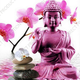 "Diamond painting ""Buddha with orchid"""