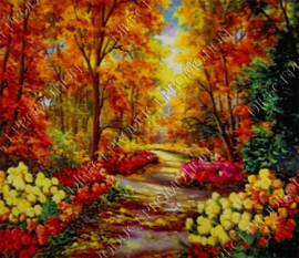 """Diamond painting """"Forest in the fall"""""""