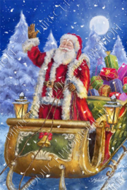 "Diamond painting ""Santa on the sled"""