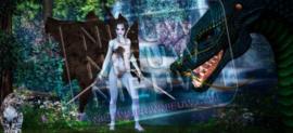 "Diamond painting ""Warrior elf with dragon"""