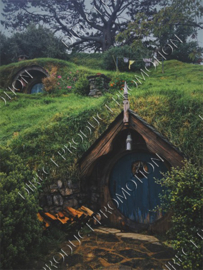 "Diamond painting ""Hobbit house"""
