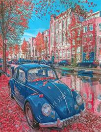 """Diamond painting """"Blue VW beetle"""""""