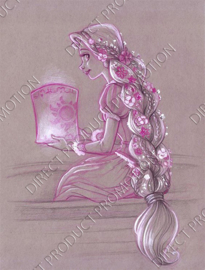 "Diamond painting ""Rapunzel with lantern"""