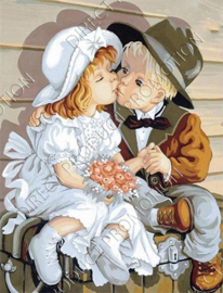 """Diamond painting """"Kissing toddlers"""""""