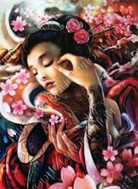 "Diamond painting ""Japanese beauty"""