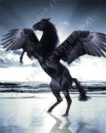 "Diamond painting ""Black Pegasus horse"""