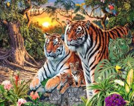 """Diamond painting """"Tiger family"""""""
