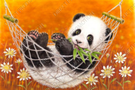 "Diamond painting ""Panda cub"""