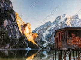 "Diamond painting ""Cabin in the mountains"""