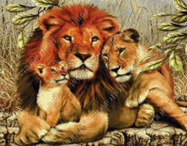"Diamond painting ""Lions"""