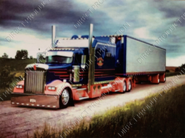 "Diamond painting ""Blue American truck"""