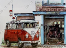 "Diamond painting ""Volkswagen van and beetle"""