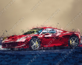 "Diamond painting ""Ferrari F8 Tributo"""