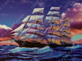 "Diamond painting ""Ships"""