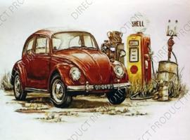 "Diamond painting ""Red VW beetle"""