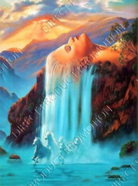 "Diamond painting ""Waterfall girl"""