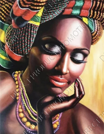 "Diamond painting ""Portrait of African woman"""